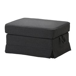 EKTORP footstool cover, Edsken dark grey