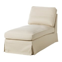 EKTORP cover free-standing chaise longue, Isefall natural