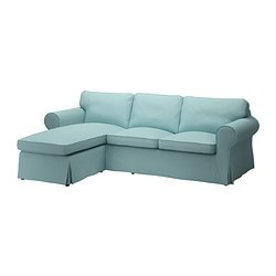EKTORP cover two-seat sofa w chaise lounge