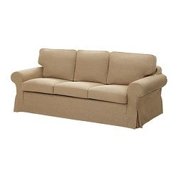 EKTORP MURBO three-seat sofa-bed, Edsken beige Width: 221 cm Depth: 103 cm Height: 96 cm