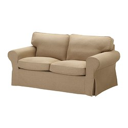 EKTORP cover two-seat sofa, Edsken beige