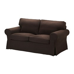 EKTORP cover two-seat sofa, Edsken brown