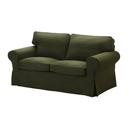 EKTORP cover two-seat sofa, Edsken green