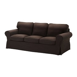 EKTORP cover three-seat sofa, Edsken brown