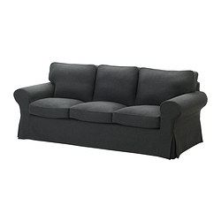 EKTORP cover three-seat sofa, Edsken dark grey