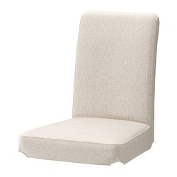 HENRIKSDAL chair cover, Linneryd natural