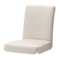 HENRIKSDAL Chair Cover Linneryd Natural Seat Width 21 1 4
