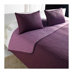 KARIT bedspread and 2 cushion covers, lilac Bedspread length: 280 cm Bedspread width: 260 cm Cushion cover length: 40 cm