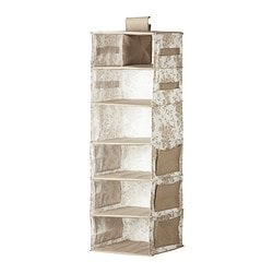 GARNITYR storage with 7 compartments, white flower, beige Width: 30 cm Depth: 30 cm Height: 95 cm