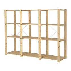 GORM 3 sections/shelves, softwood Width: 239 cm Depth: 55 cm Height: 174 cm