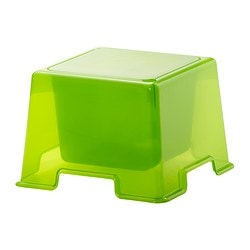 IKEA PS 2012 children's table, green Length: 37 cm Width: 37 cm Height: 25 cm