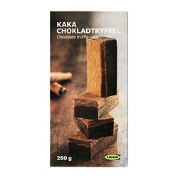 KAKA CHOKLADTRYFFEL chocolate truffle cake, frozen Net weight: 9.9 oz Net weight: 280 g