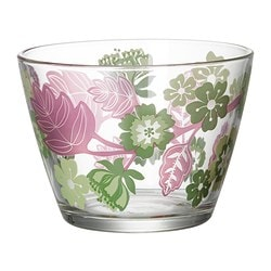 IDEELL bowl, green, pink Diameter: 11 cm Height: 8 cm