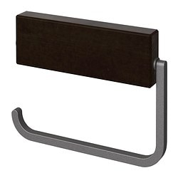 HJÄLMAREN toilet roll holder, black-brown stain Width: 17 cm Depth: 2 cm Height: 13 cm