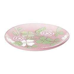 IDEELL side plate, green, pink Diameter: 20 cm