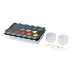 MÅLA watercolour box, assorted colours