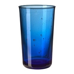"BRUKBAR glass, blue Height: 5 "" Volume: 9 oz Height: 12 cm Volume: 27 cl"