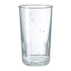 "BRUKBAR glass, clear glass Height: 5 "" Volume: 9 oz Height: 12 cm Volume: 27 cl"
