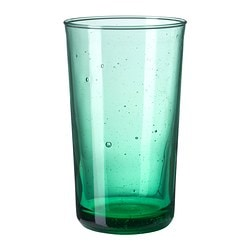 "BRUKBAR glass, green Height: 5 "" Volume: 9 oz Height: 12 cm Volume: 27 cl"
