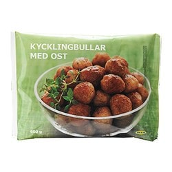 KYCKLINGBULLAR MED OST chicken meatballs w cheese, frozen Net weight: 600 g