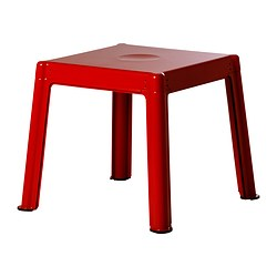 IKEA PS 2012 nest of tables, set of 3, beech, red Length: 50 cm Width: 50 cm Height: 42 cm