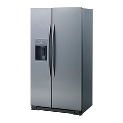 ENERGISK SBS379/ 176 fridge/freezer, stainless steel Width: 90.8 cm Depth: 71.0 cm Height: 175.8 cm