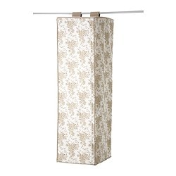 GARNITYR clothes tidy, white flower, beige Width: 44 cm Depth: 55 cm Height: 155 cm