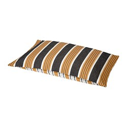 BJÖRNLOKA RAND cushion cover, orange, white/black Length: 40 cm Width: 60 cm