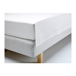 GÄSPA sheet, white Thread count: 310 /inch² Length: 260 cm Width: 240 cm