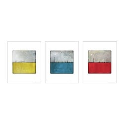 TRILLING poster, set of 3, red, yellow and blue pole Width: 40 cm Height: 50 cm