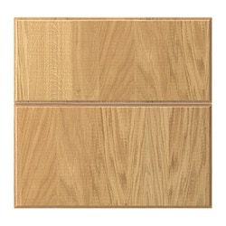NORJE deep drawer front, set of 2, oak veneer Width: 39.6 cm Height: 56.6 cm Thickness: 1.9 cm
