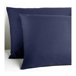 "DVALA pillowcase, dark blue Thread count: 144 square inches Length: 20 "" Width: 30 "" Thread count: 144 square inches Length: 51 cm Width: 76 cm"