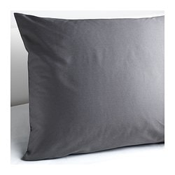 "GÄSPA pillowcase, dark gray Thread count: 310 square inches Length: 20 "" Width: 30 "" Thread count: 310 square inches Length: 51 cm Width: 76 cm"