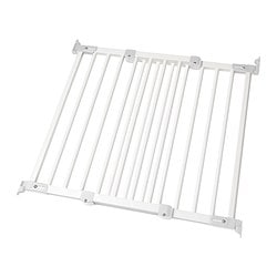PATRULL FAST safety gate, white Min. width: 65.0 cm Max. width: 106.5 cm Height: 75 cm