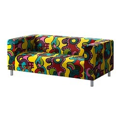 KLIPPAN cover two-seat sofa, Mollaryd multicolour