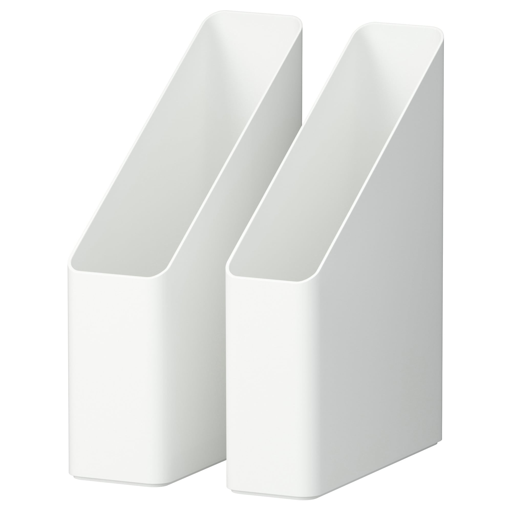 Pluggis Magazine File, Set Of 2, White