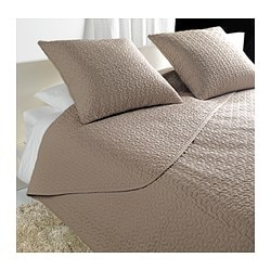 "ALINA bedspread and 2 cushion covers, beige Bedspread length: 110 "" Bedspread width: 102 "" Cushion cover length: 26 "" Bedspread length: 280 cm Bedspread width: 260 cm Cushion cover length: 65 cm"