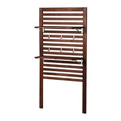 ÄPPLARÖ wall panel with shelves, brown Width: 80 cm Depth: 30 cm Height: 158 cm