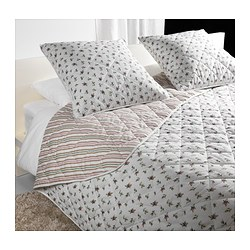 EMMIE BLOM bedspread and 2 cushion covers, multicolour Bedspread length: 280 cm Bedspread width: 260 cm Cushion cover length: 65 cm