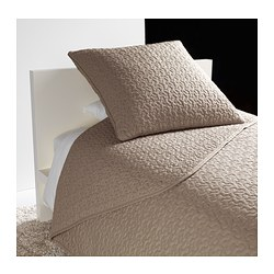 ALINA bedspread and cushion cover, beige Bedspread length: 280 cm Bedspread width: 180 cm Cushion cover length: 65 cm