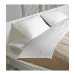 GÄSPA sheet set, white Thread count: 310 /inch² Thread count: 310 /inch²