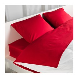 DVALA sheet set, red Thread count: 144 /inch² Thread count: 144 /inch²