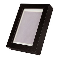 RIBBA frame, black Picture without mount, width: 10 cm Picture without mount, height: 15 cm Picture with mount, width: 8 cm