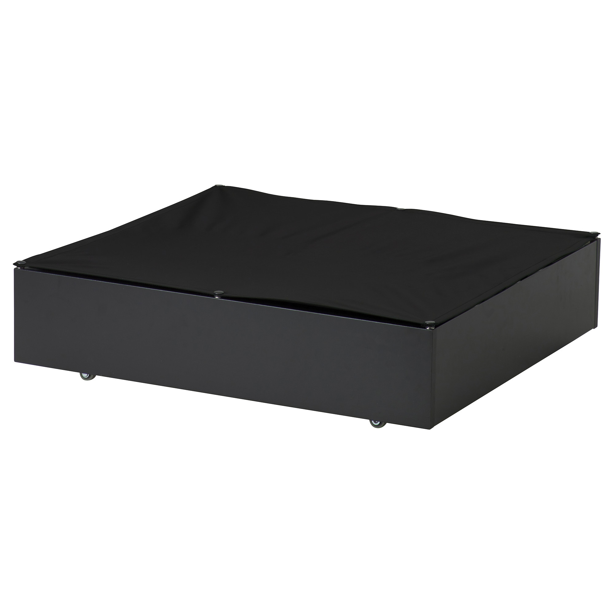 vard underbed storage box black height of drawer inside 5 1
