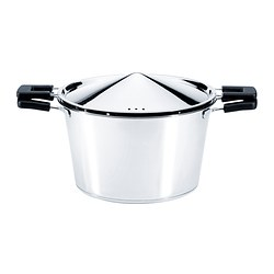 ÖNSKVÄRD pot with lid, stainless steel Diameter: 21 cm Height: 12.5 cm Volume: 3 l