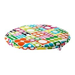 "CILLA chair pad, multicolor Diameter: 13 "" Thickness: 1 "" Diameter: 34 cm Thickness: 2.5 cm"