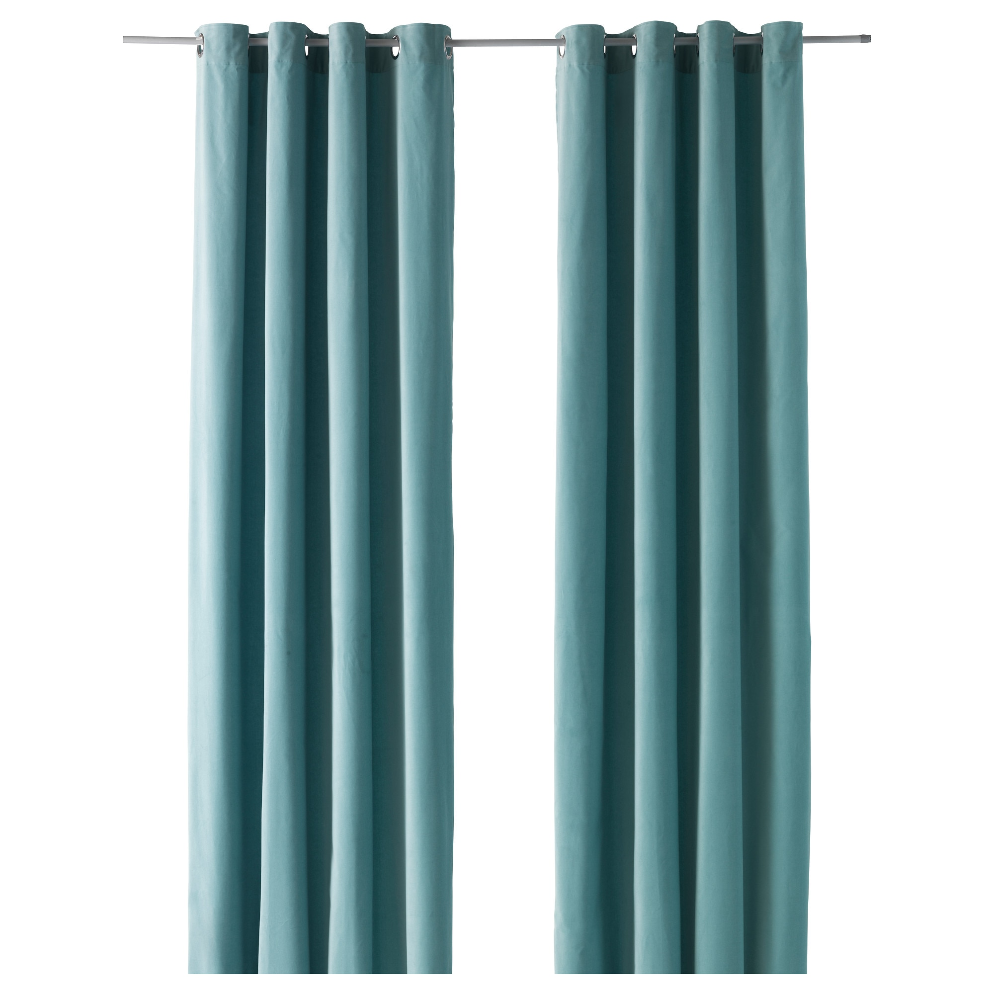 Blue Curtains Living Room Curtains, 1 pair