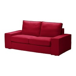 KIVIK cover two-seat sofa, Dansbo medium red