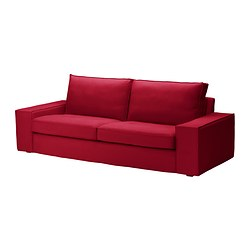 KIVIK cover three-seat sofa, Dansbo medium red