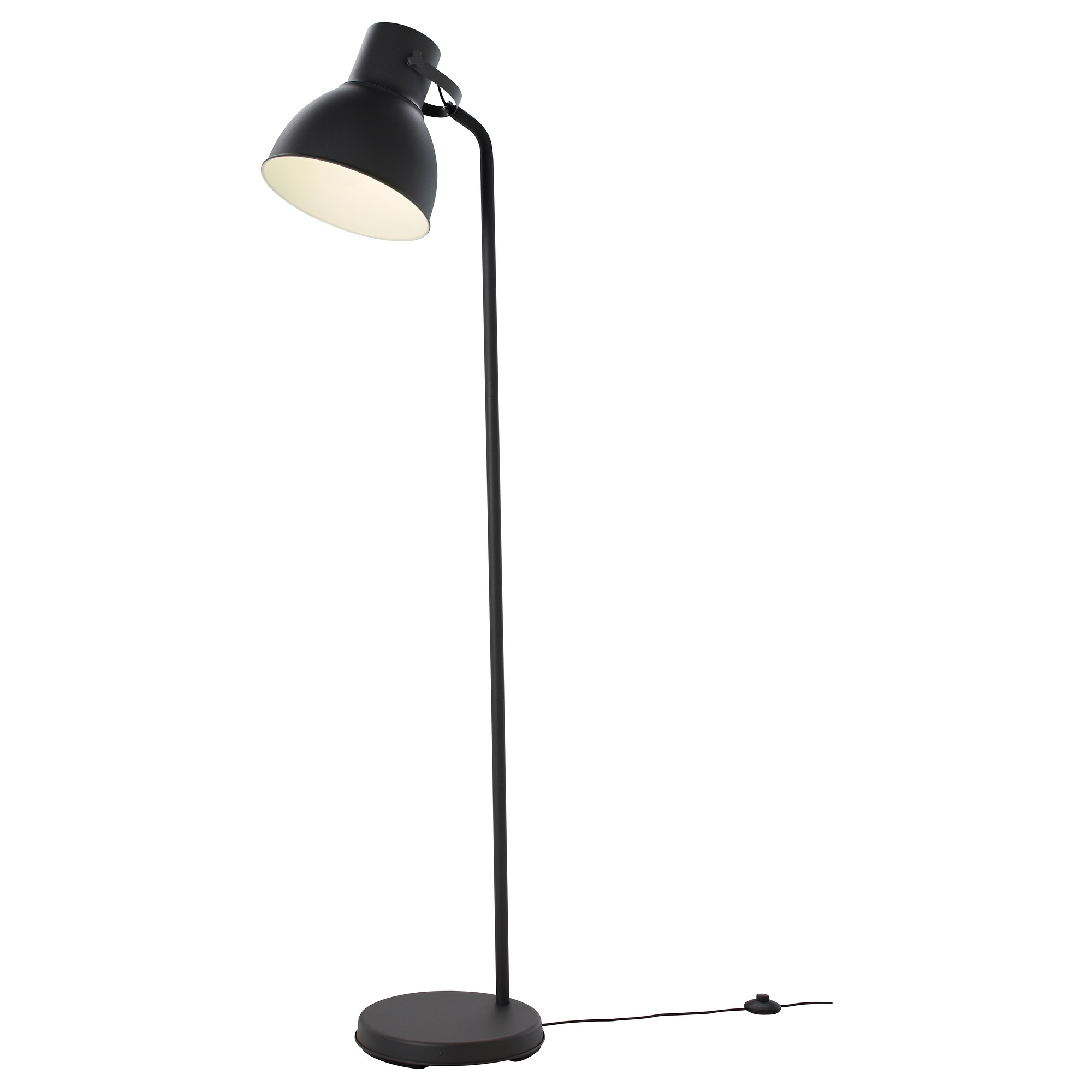 HEKTAR floor lamp with LED bulb, dark gray Max.: 53 W Height: